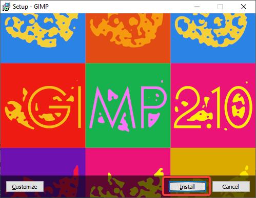 Instalare GIMP