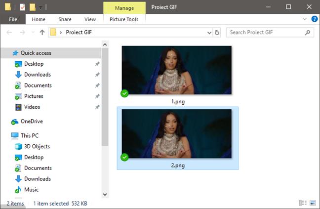 Redenumirea imaginilor folosite pentru animația GIF