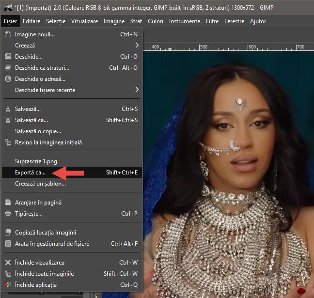 Exportarea animației ca fișier GIF