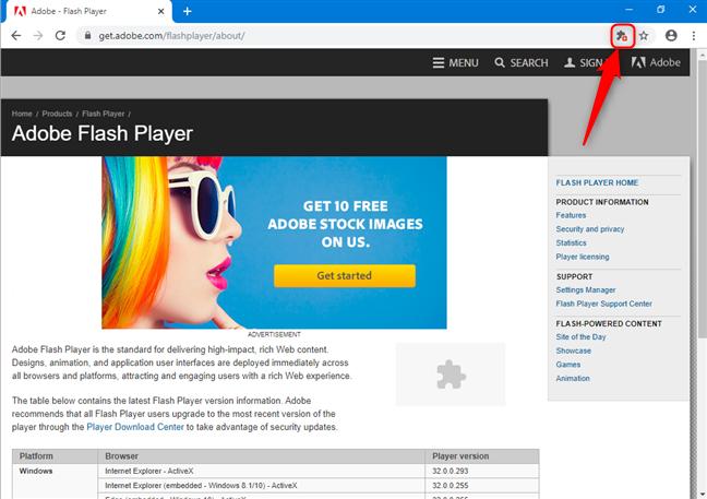 Google Chrome: Flash a fost blocat pe această pagină