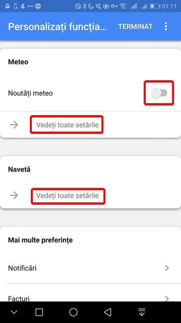 Personalizează Meteo și Navetă în Google Discover