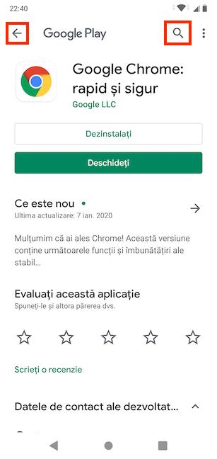 Caută conținut nou în Google Play