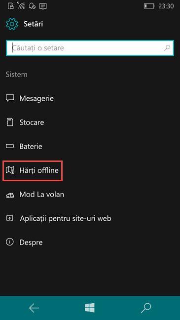 Windows Phone, Windows 10 Mobile, harti, offline
