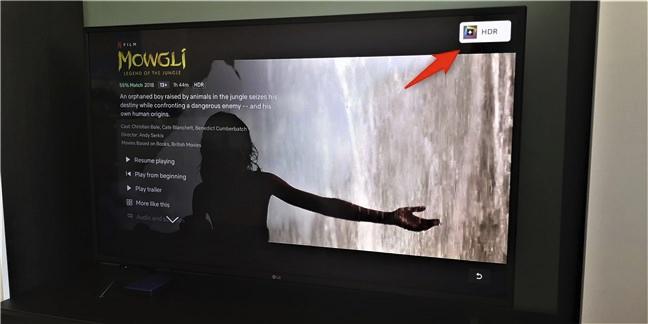 Un televizor care suportă HDR
