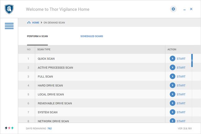Scanări antivirus ce pot fi rulate cu Thor Vigilance