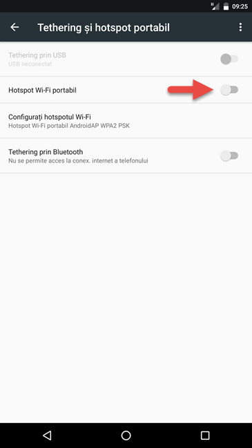 Android, hotspot, WiFi, mobil
