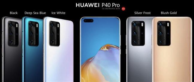 Ediții de culoare disponibile pentru Huawei P40 Pro