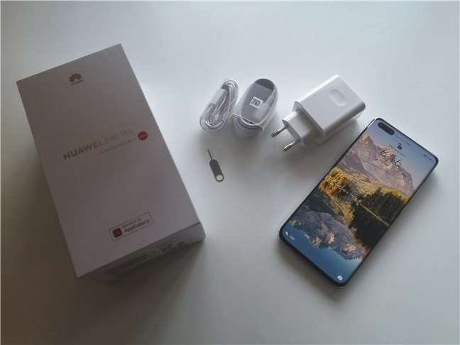 Despachetarea lui Huawei P40 Pro