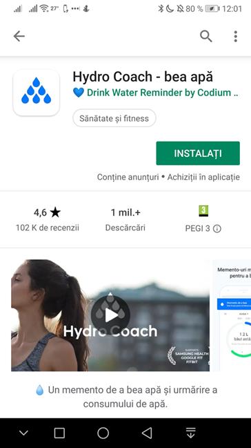 Pagina Hydro Coach în Magazinul Google Play