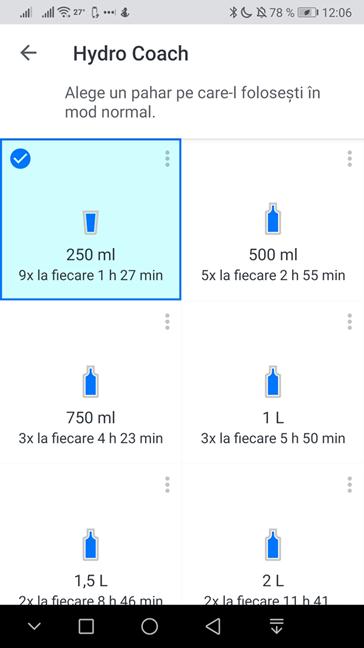 Alege mărimea vasului tău în Hydro Coach