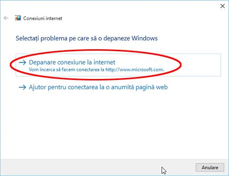 Internet, conexiune, problema, wireless, retea, depanare, repara, Windows