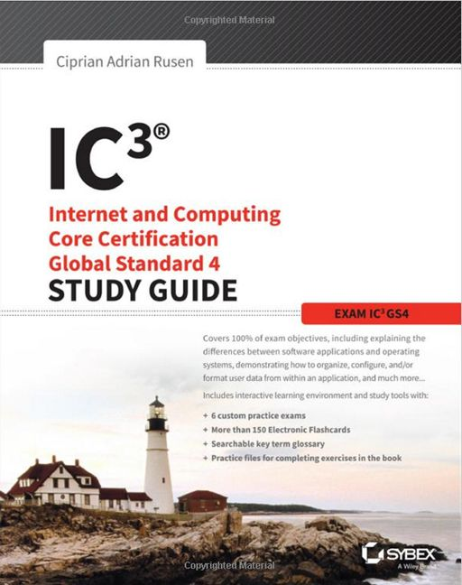 IC3, Internet and Computing Core, Certification, Global Standard 4, Study Guide, carte
