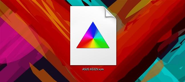 Un fișier ICM (profil de culori) în Windows 10
