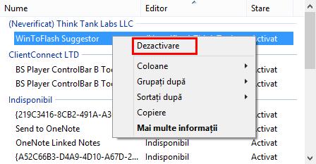 Internet Explorer, elimina, activare, dezactivare, add-on, add-on-uri, extensii