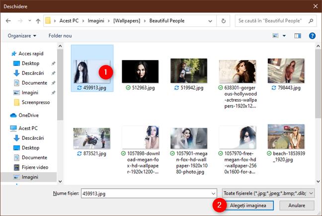 Alegerea imaginii pentru fundalul desktopului din Windows 10