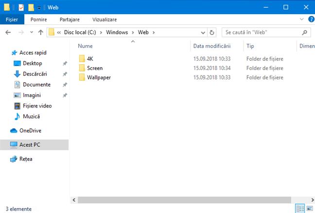 Locația imaginilor de fundal din Windows 10