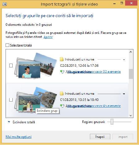 Windows, Galerie Foto, importa, poze, videoclipuri, camera, digitala, smartphone