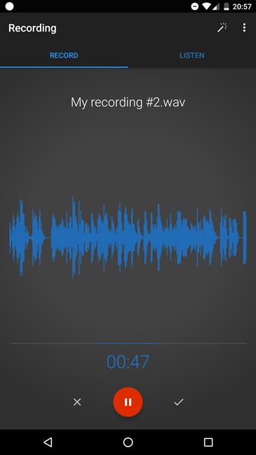Inregistrare, voce, Android