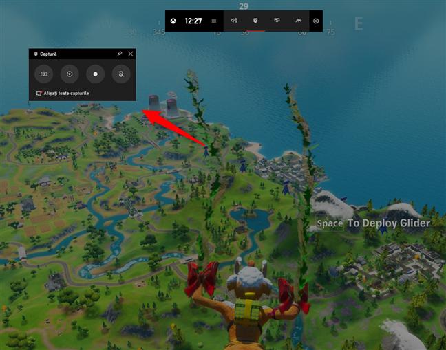 Widget-ul Captură din Bara Jocuri Xbox în Windows 10