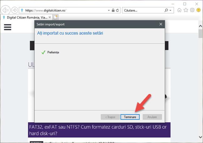 Internet Explorer, Windows, favorite, import, export
