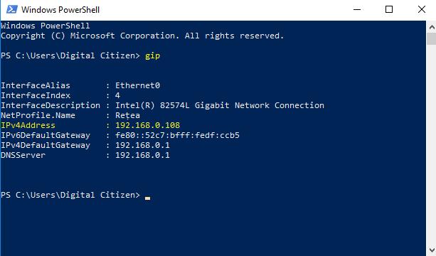 adresa IP, Windows, IPv4, IPv6