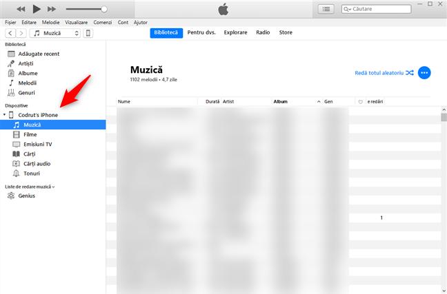 Folderele de pe iPhone, afișate în iTunes