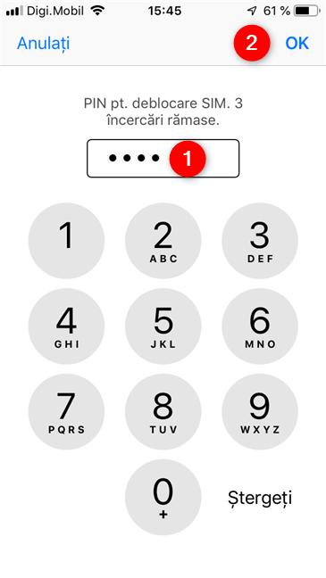 Deblocarea cartelei SIM de pe un iPhone