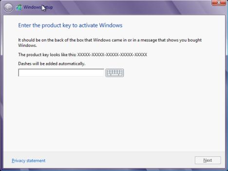 Instalare Windows 8