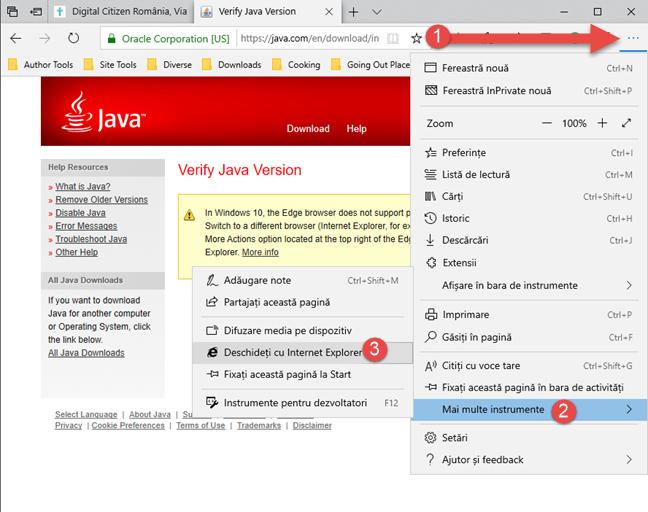 Microsoft Edge: deschide fila curentă cu Internet Explorer