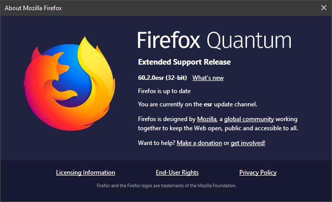 Firefox Quantum Extended Support Release