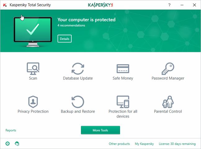 Kaspersky Total Security, 2018