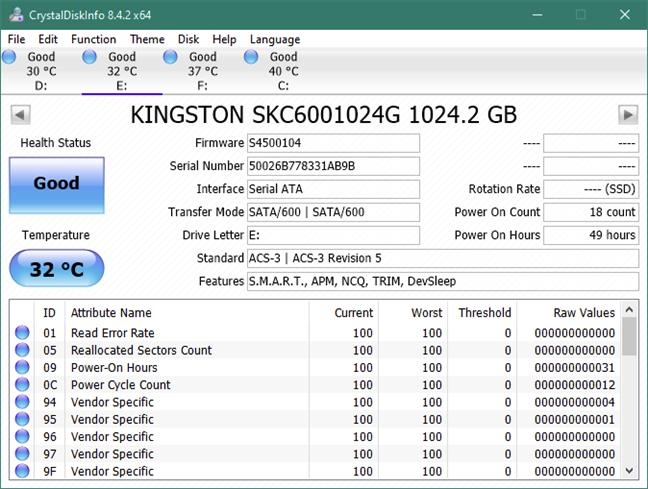 """Informații despre Kingston KC600 1 TB 2.5"""" SATA SSD"""