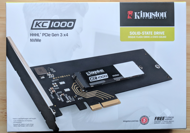 Kingston KC1000, NVMe SSD
