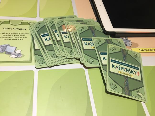 Board game cu Kaspersky Interactive Protection Simulation