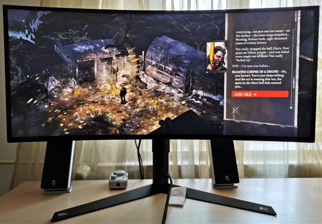 Cum arată jocurile pe LG 34GK950G
