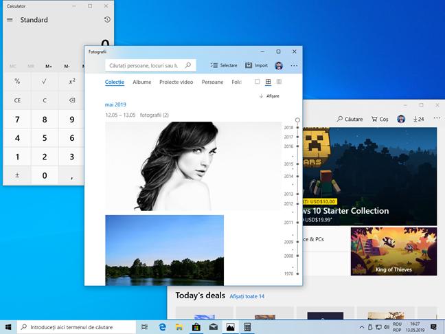 Aplicații care folosesc Modul Luminos din Windows 10