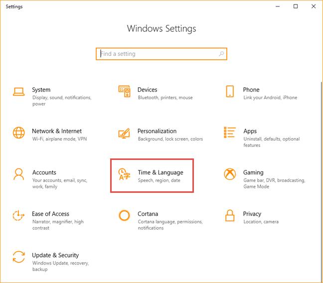 Windows 10, limba, afisare, instaleaza