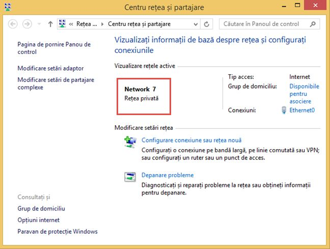 Windows, locatie, retea, privata, publica, birou, acasa