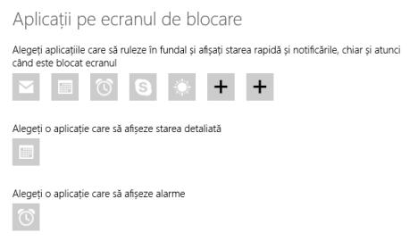 Windows 8.1, Ecran de blocare, imagine, fundal, personalizare, notificari, date dinamice, aplicatii