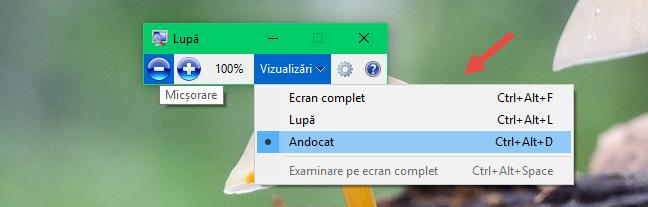 Windows, Lupa, Magnifier