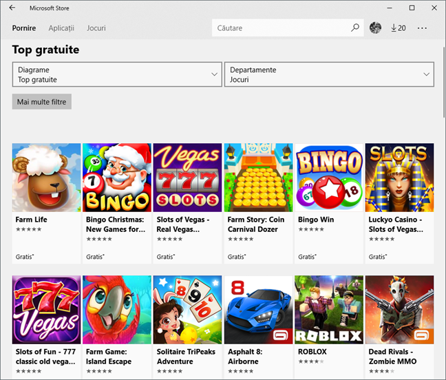 Magazinul Microsoft, Windows 10