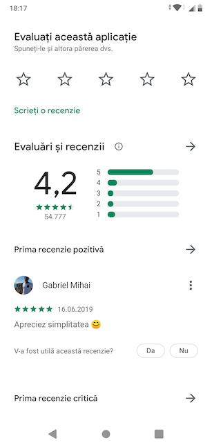 Derulează pentru a evalua aplicația sau a citi recenzii