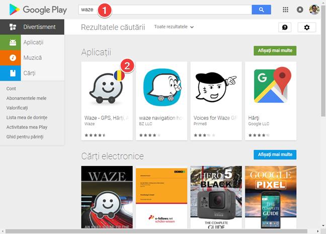 Caută o aplicație în Magazin Google Play