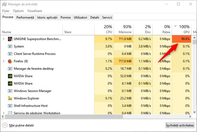 Identificarea aplicațiilor care consumă multe resurse GPU