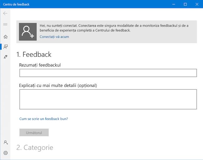 Folosește Centrul de feedback pentru a-ți spune părerea