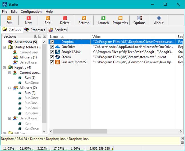 Windows, manager, programe, pornire
