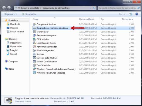 RAM, Windows, Diagnosticare memorie Windows, Windows Memory Diagnostic
