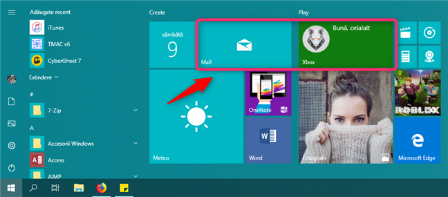 Dale late din Meniul Start din Windows 10