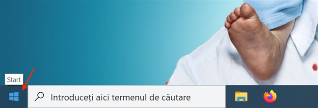 Butonul Start în Windows 10