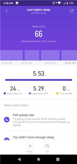 Monitorizarea somnului cu Xiaomi Mi Smart Band 4 nu este precisă